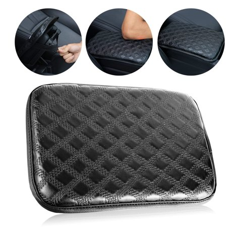 - Universal Car Armrest Pad Cover Auto Center Console Box PU Leather Cushion Pads