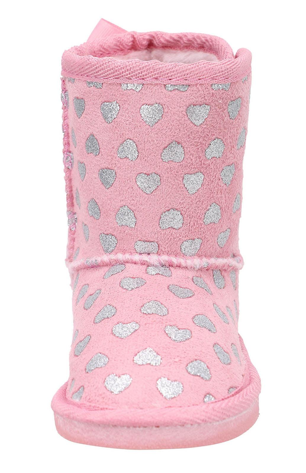 Kids Girls Winter Boots Faux Fur Lined