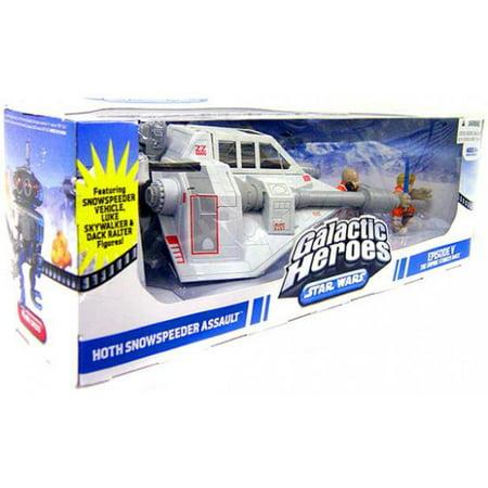 Star Wars Galactic Heroes 2009 Hoth Snowspeeder Assault Battle Set