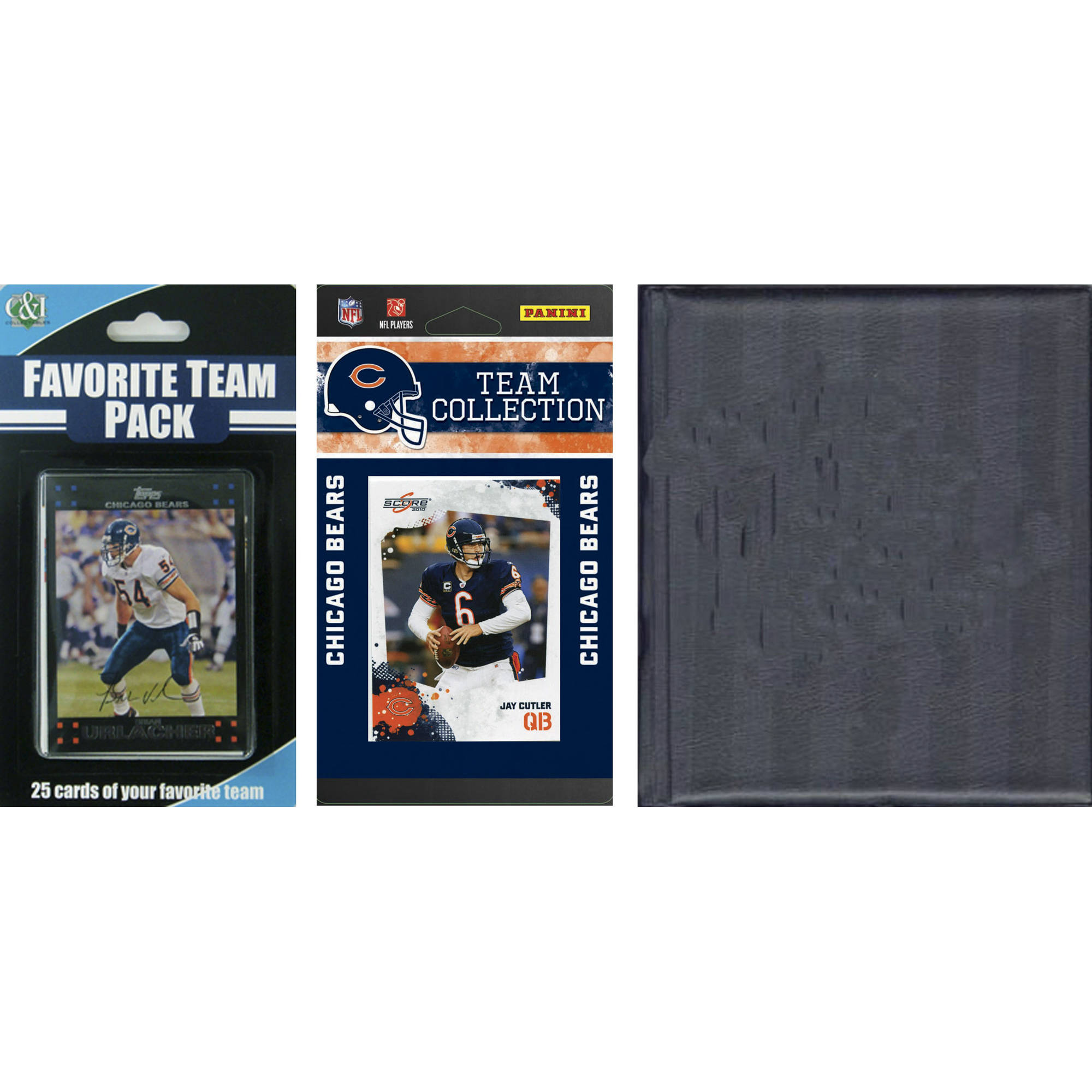 C&I Collectables NFL Chicago Bears Licensed 2010 Score Team Set and Favorite Player Trading Card Pack Plus Storage Album