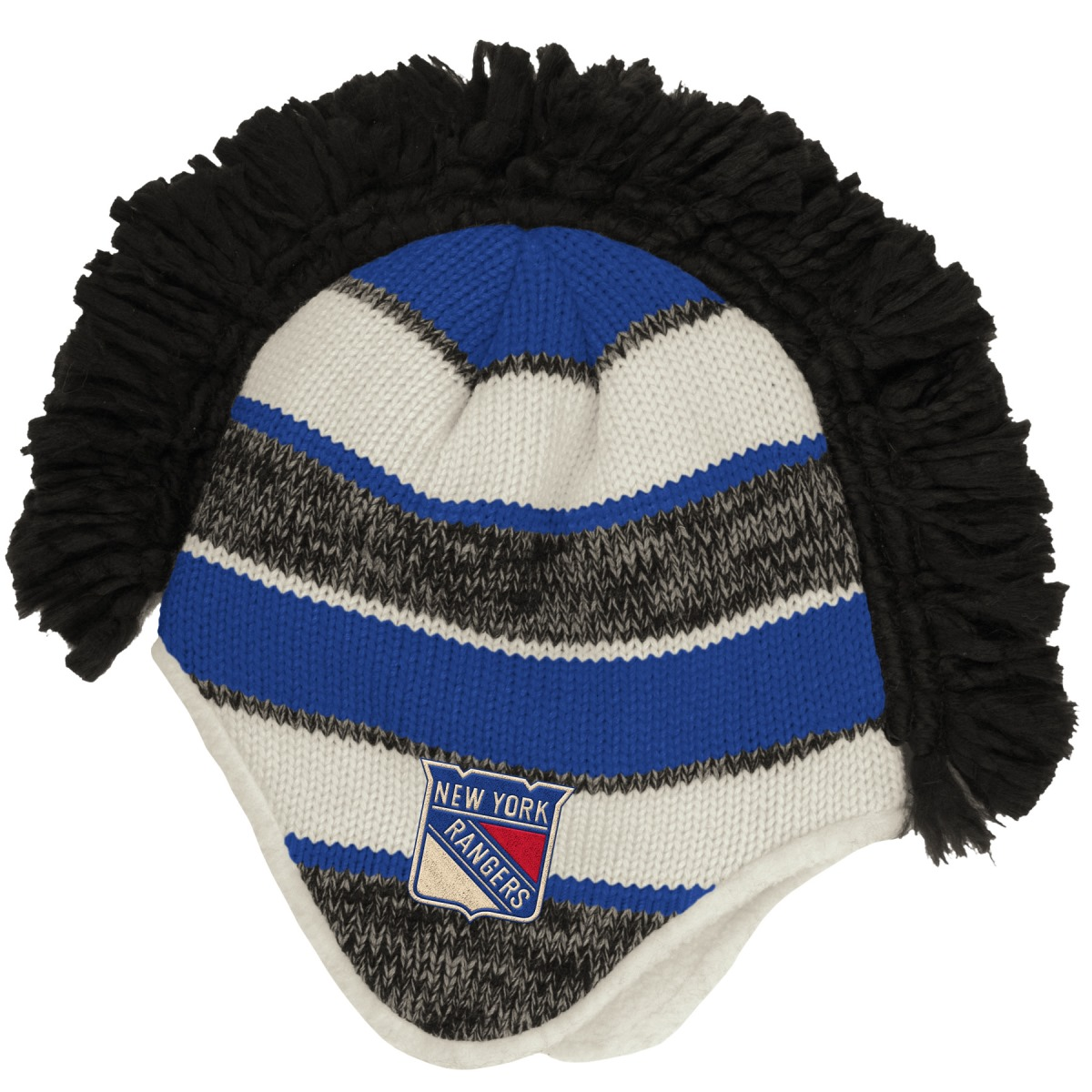 "New York Rangers Reebok NHL 2015 ""Face-Off"" Spiked Mohawk Knit Hat by Reebok"