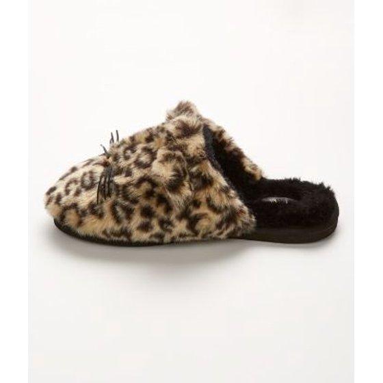 13294699c2de Kate Spade New York - kate spade new york Belindy Faux Fur Cat Slippers -  Walmart.com