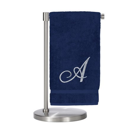 Bare Cotton Corp. Silver Script Monogrammed Turkish Cotton 27x54-inch Bath Towel (set of 2) - A ()