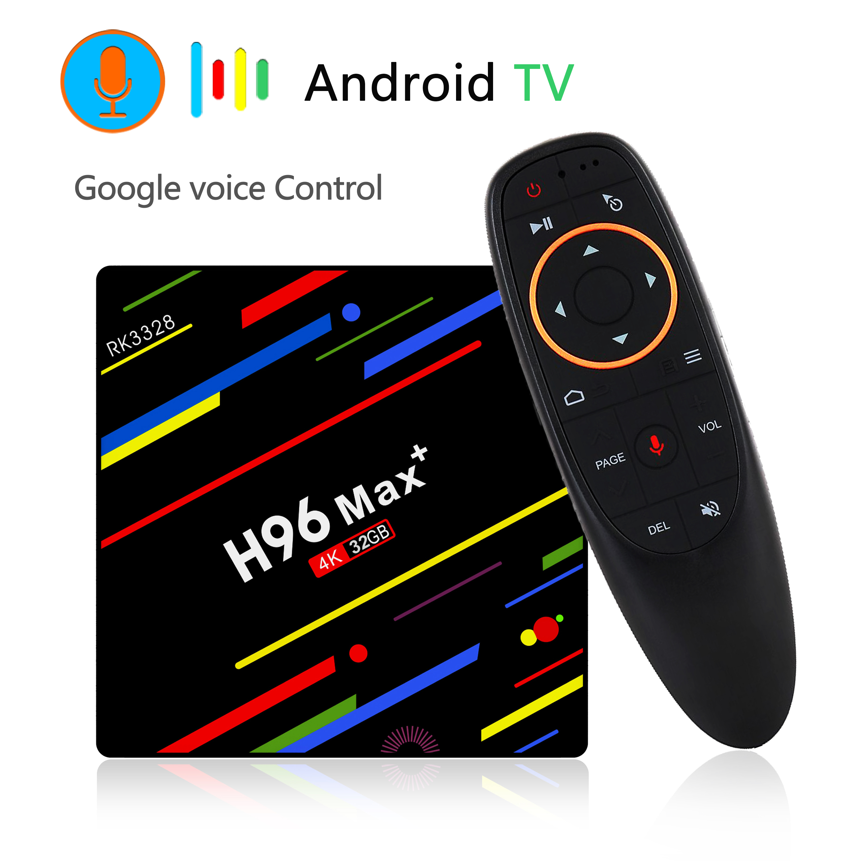 H96 Max Plus RK3328 4GB RAM 64GB ROM Android 8.1 USB3.0 5G WIFI TV Box Support HD Netflix 4K Youtube -US