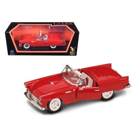 1955 Ford Thunderbird Red With Red Roof 1/18 Diecast Model Car by Road - 1960 Ford Thunderbird