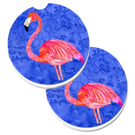 Flamingo Set of 2 Cup Holder Car Coasters 8685CARC - Cup Holder Coaster