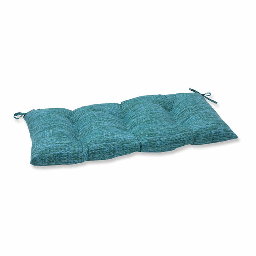 Pillow Perfect Outdoor  Indoor Remi Patina Wrought Iron Loveseat Cushion by Overstock
