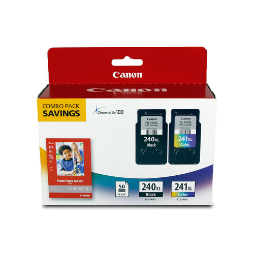 Canon PG-240XL/CL-241XL and GP-502 Combo Pack