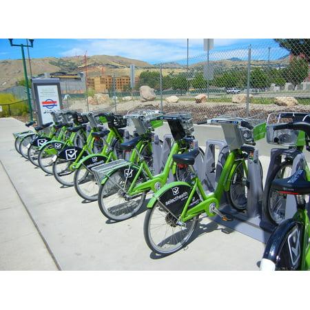 LAMINATED POSTER Renting A Bicycle Transport Salt Lake City Poster Print 24 x (Best Bike Shop Salt Lake City)
