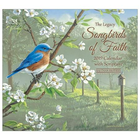2019 Songbirds of Faith Mini Calendar,  by Legacy Publishing Group