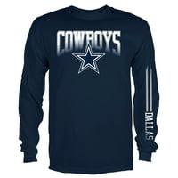 Product Image Men s Navy Dallas Cowboys Team Logo Mack Long Sleeve T-Shirt c16ed6889705