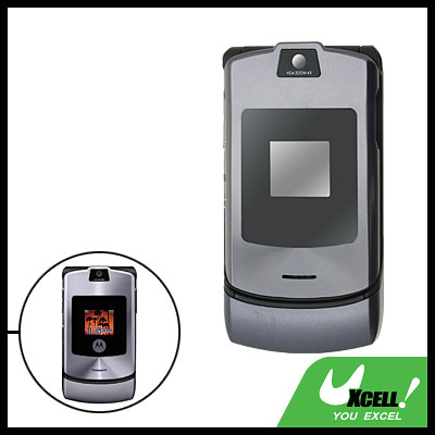 Hard Housing Case Faceplate for  Motorola V3i Gray