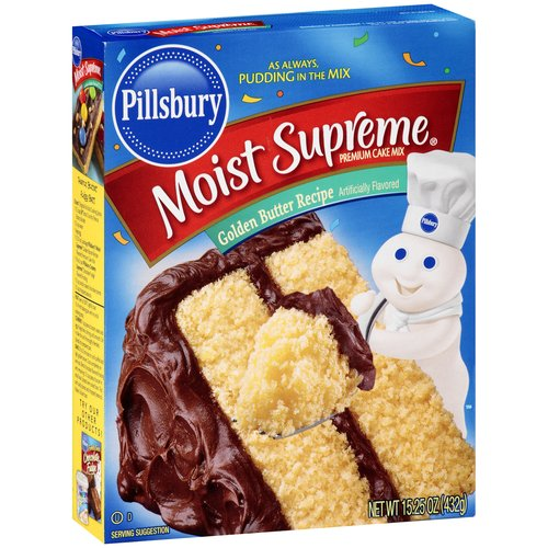 Pillsbury Moist Supreme Golden Butter Recipe Premium Cake Mix, 15.25 oz