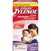 Infants' Tylenol Oral Suspension, Grape, 1 Oz