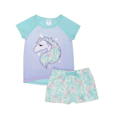 88d26ac59 Saint Eve - Girls  Saint Eve Girl s Unicorn Star 2 Piece Pajama ...