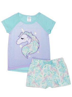 5c5682a3eb Free shipping on orders over  35. Product Image Girls  Saint Eve Girl s  Unicorn Star 2 Piece Pajama Sleep Set (Little Girl