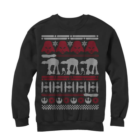 Star Wars Men's Ugly Christmas Sweater Sweatshirt (Ugly Christmas Sweater Star Wars)