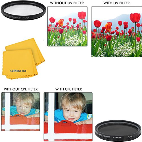 58mm Circular Polarizer Multi-Coated Filter and UV Protec...