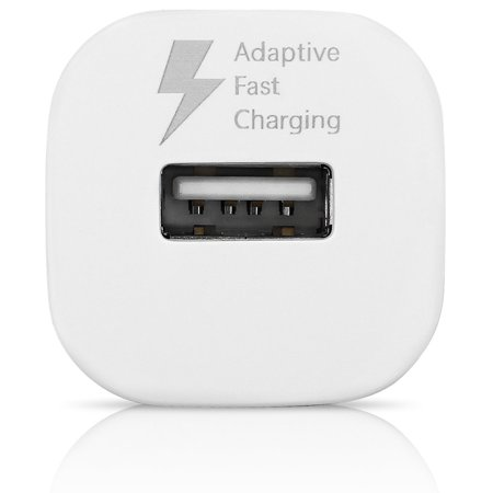 OEM Adaptive Fast Charger Compatible with Huawei P9 Cell Phones - [Car Charger + 4 FT Type-C Cable] - AFC uses Dual voltages For up to 50% Faster Charging! - White - image 8 of 9