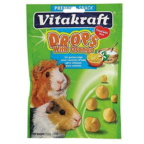 Vitakraft Drops with Orange Guinea Pig Treat, 5.3 oz.