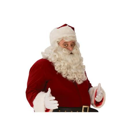 Halloween Premium Santa Beard Wig Set](White Beard Wig)