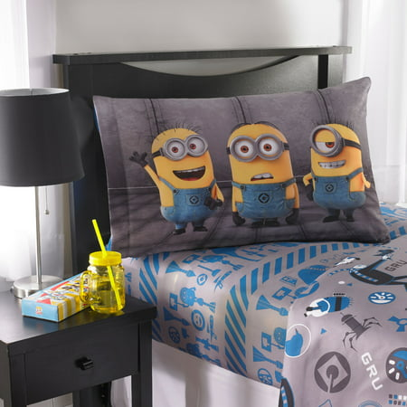 Minion Room Decor (Despicable Me Minions Follow Mel Kids Bedding Sheet Set, 1)