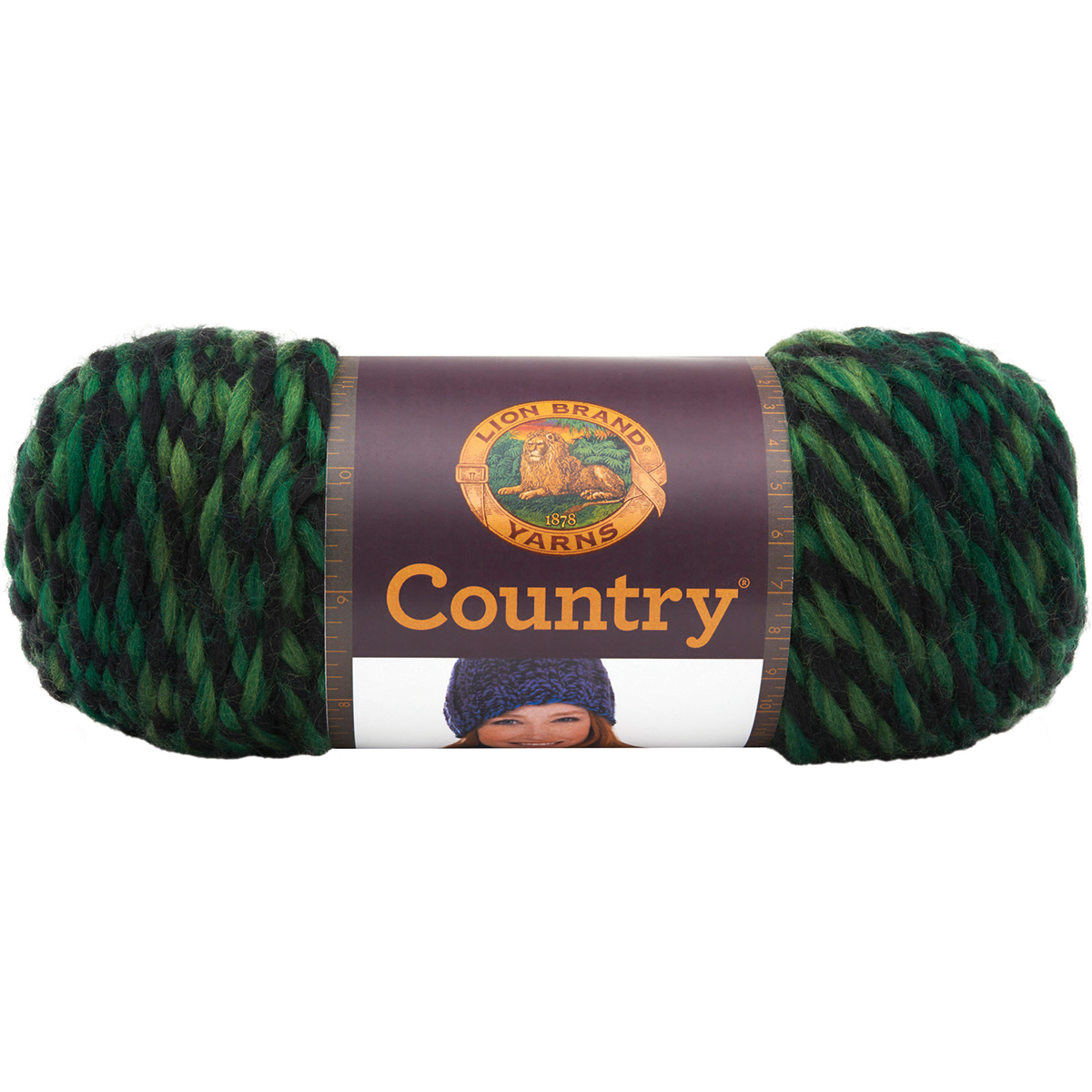 Lion Brand Country Yarn, Adirondack Green Multi-Colored