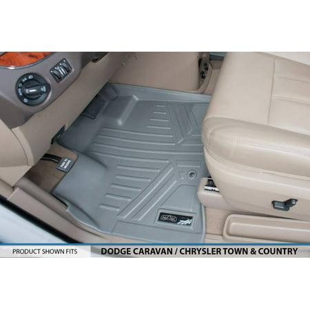 Maxliner 2008 2017 Dodge Grand Caravan Chrysler Town   Country Floor Mat First Row Set Grey A2046
