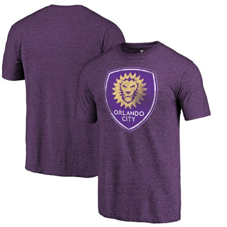 Orlando City SC Fanatics Branded Distressed Primary Logo Tri-Blend T-Shirt - Purple](City Walk Halloween Orlando)