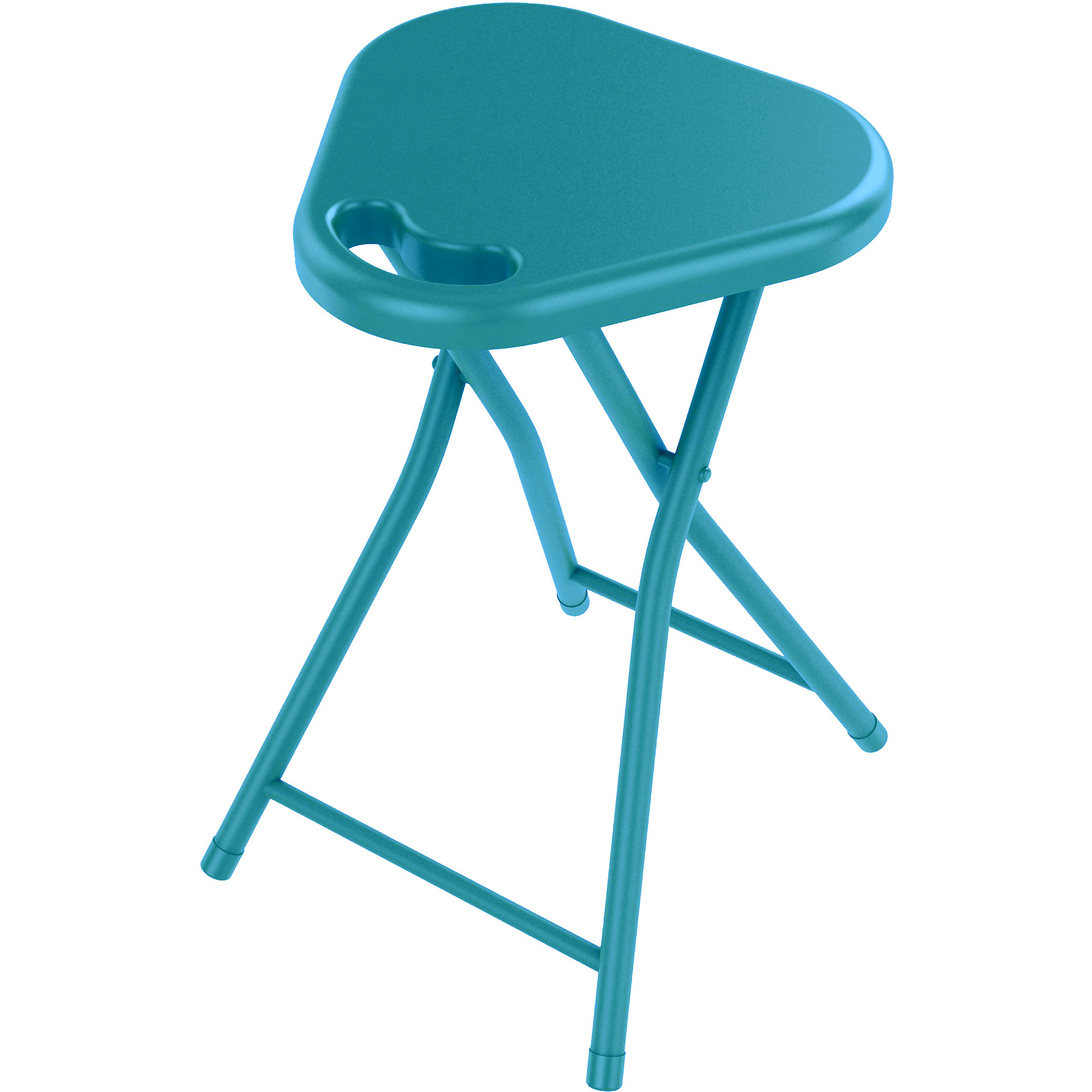 Atlantic Folding Stool with Handle, Set of 4, Multiple Colors