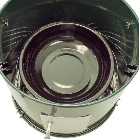 f854f38354b2 Dyna-Glo Compact Charcoal Bullet Smoker - High Gloss Forest Green -  Walmart.com