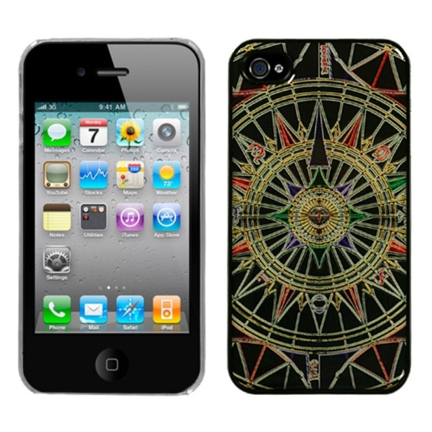 Insten Star Compass Dream Back Case For iPhone 4 4S