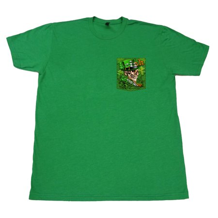 Irish to the Bone Skull Soft T-Shirt Tee Printed Pocket Unisex Mens - Green