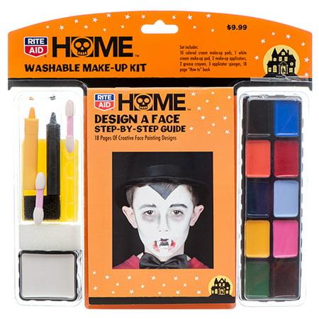New 370890  Hh Make-Up Kit Washable W / Guide (22-Pack) Halloween Cheap Wholesale Discount Bulk Seasonal Halloween Drink Mixes & Powders