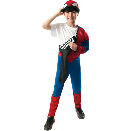 Ultimate Spider-Man 2-In-1 Spider-Man/Black Spider-Man Child Halloween Costume - Black Spiderman Costume Child