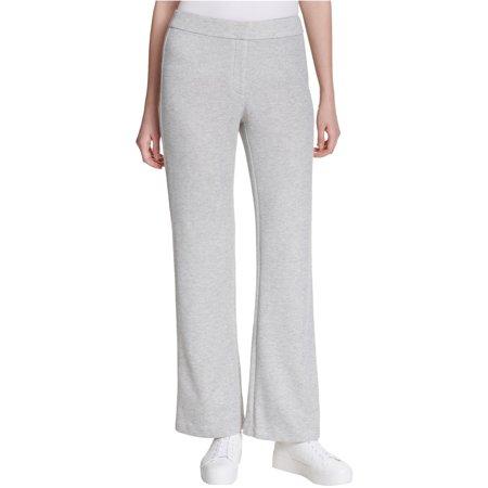 Calvin Klein Womens Heathered Casual Wide Leg Pants