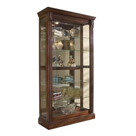 Cherry Carved Curio Cabinet - Beaumont Lane Cherry Curio Cabinet
