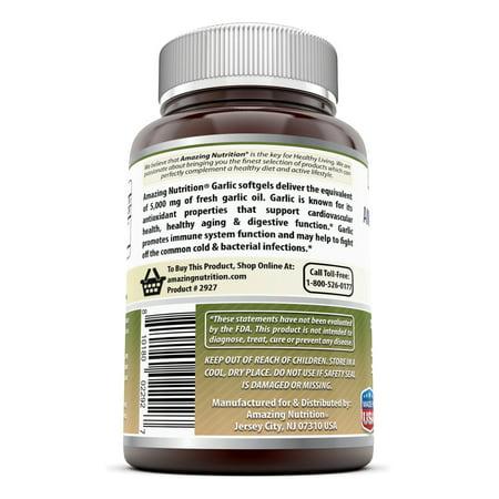 Amazing Formulas Ail 5000 mg 120 gélules