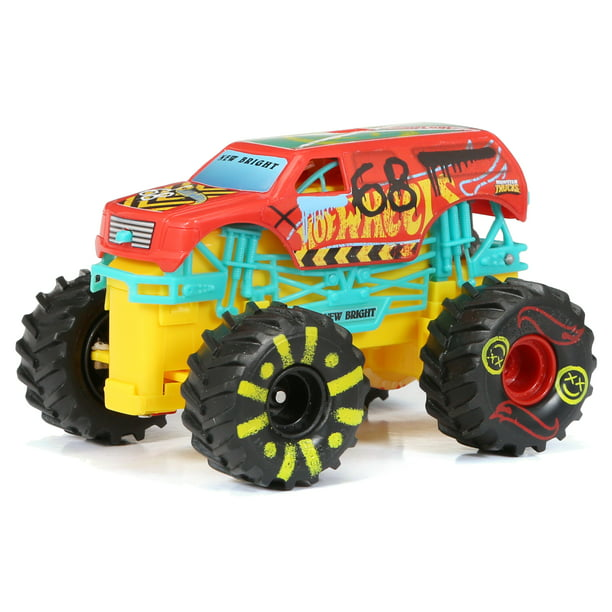 New Bright RC 1:43 Scale Remote Control Monster Truck Hot Wheels Demo Derby 2.4GHz