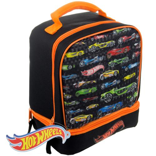 Superhero Disney Matchbox Kids Insulated 2-Section Padded Lunch Bags Lunchbox Hot Wheels