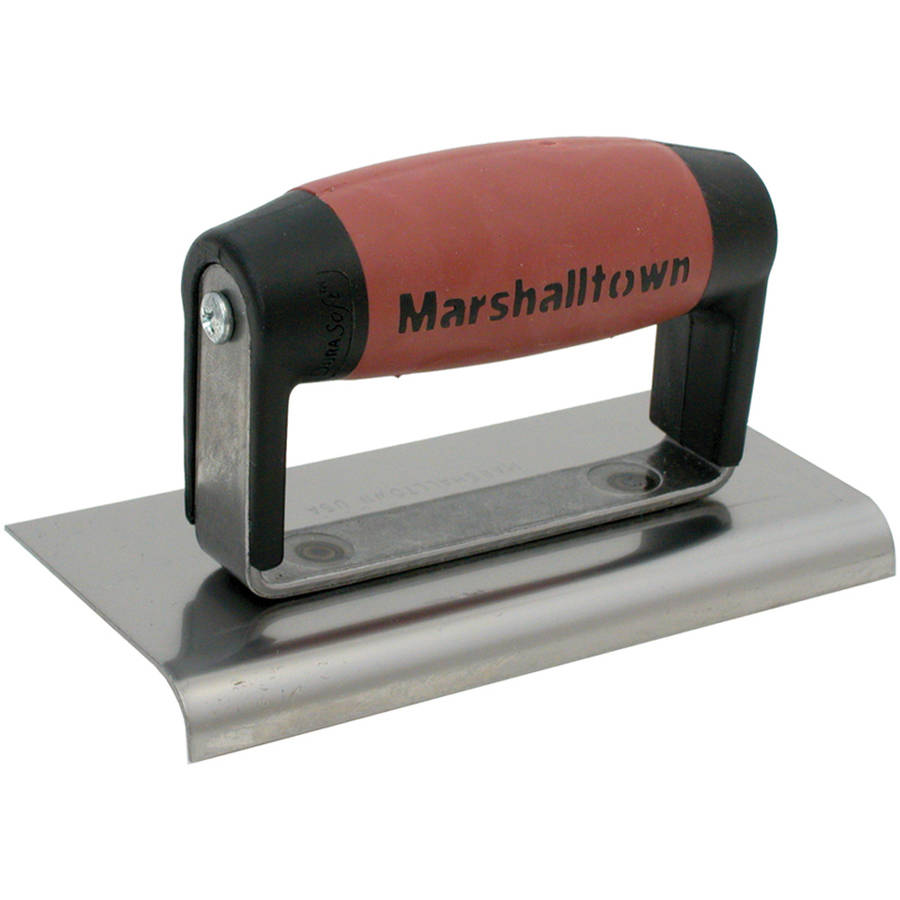 "Marshalltown 36D 6"" x 3-3/8"" Carbon Steel Straight End Edger"