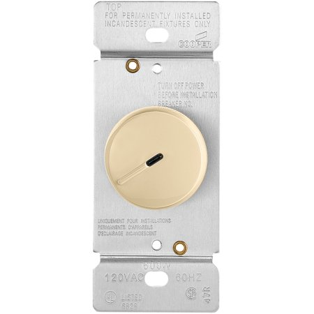 Cooper Wiring Devices RI06PL-V Dimmer Rotary LT SP/3W 600W 120V Pset (Cooper Wiring Dimmer)