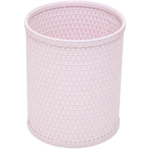 Chelsea Collection Decorator Color Round Wicker Wastebasket