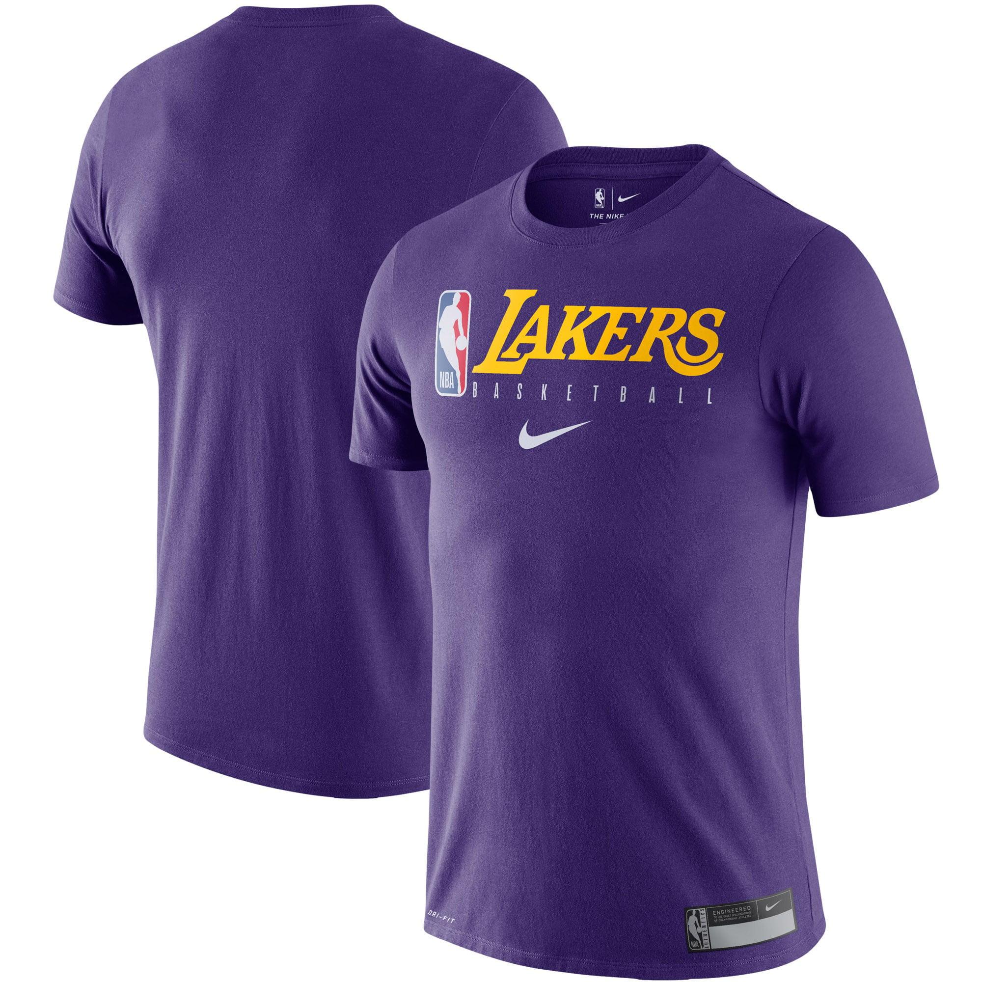 Los Angeles Lakers Nike Essential Practice Performance T-Shirt - Purple ...