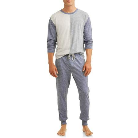 Hanes Men's Lounge Set, Long Sleeve Crew Top and Jogger Pants ()