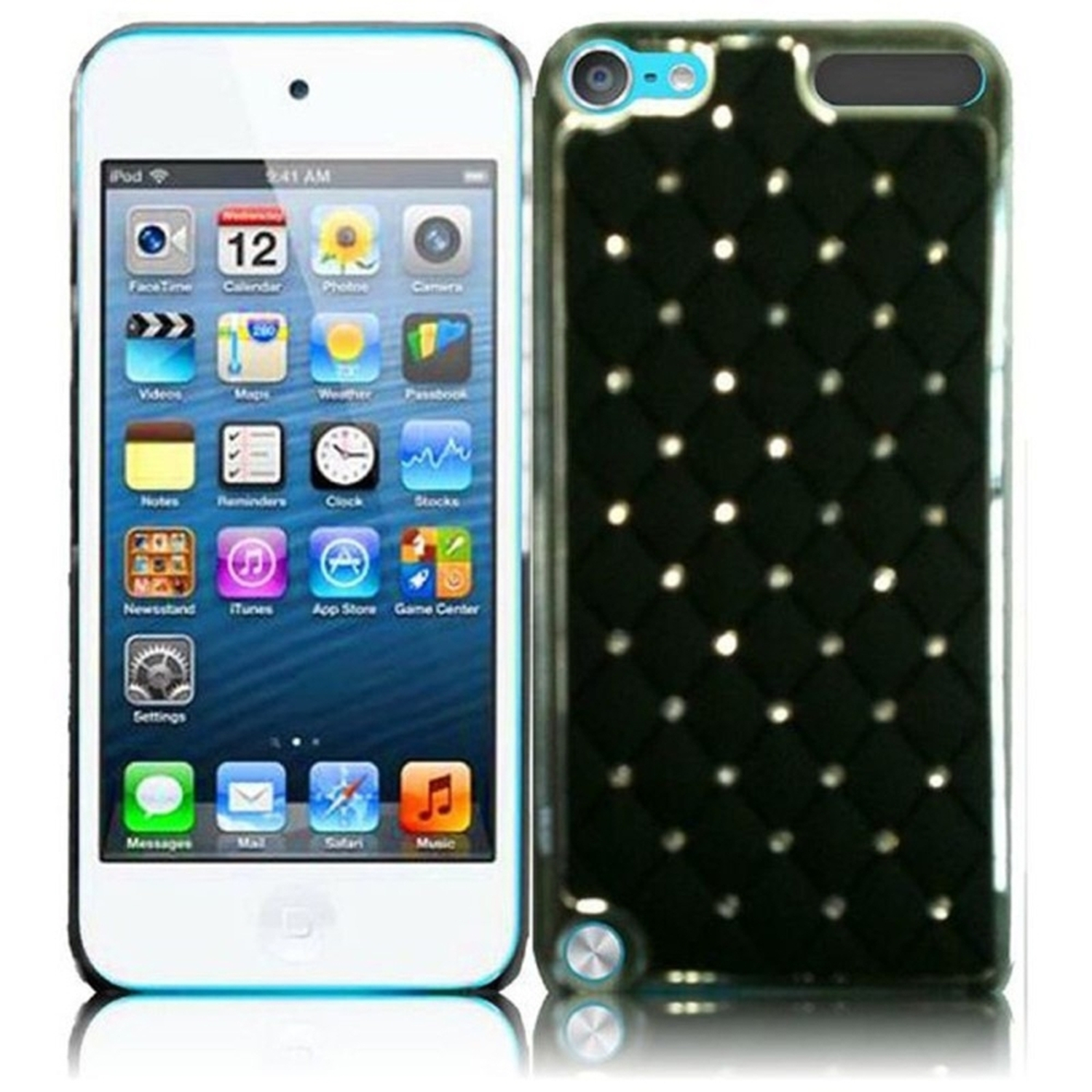 Insten For Apple Ipod Touch 6 6G 6th / 5 5G 5th Diamond Metal Case Black