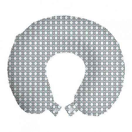 Abstract Travel Pillow Neck Rest, Vertically Arranged Round Squares and Connected Strips Continued, Memory Foam Traveling Accessory Airplane and Car, 12 , Dimgray Hunter Green White, by Ambesonne Ambesonne Travel Pillow Neck Rest STANDARD SIZE - 12  Wide x 12  Long. U shape head support. Rest pillow with durable printed cover. MADE FROM - Soft & moldable viscoelastic memory foam. Sturdy and soft 100% polyester fabric cover. FEATURES - Breathable. Removable cover has a zipper closure. Easy to attach with snap fasteners. PORTABLE - Comfortable on a plane, bus, car, train or at home while watching TV, reading a book, napping. PRINTED - With state of the art digital printing technology. Long-lasting bold colors & clear image. Feel like at home even on the go! Feel the comfort and softness with this smart design memory foam travel pillow. Choose between thousands of different patterns for a more personalized look. This printed cover is machine washable so; you can have a fresh and clean pillow every journey. It can be quickly taken off and put on with zipper closure. Its comfortable and breathable. Use it in the car, plane, train or bus. Itll be your best traveling partner. With its snap fasteners, you can easily attach it to your luggage or backpack without taking much space. Besides traveling you can use it at home or office. Even a simple nap will be better with this relaxing head support. Dont miss the style while seeking for comfort. This pillow will give you both, surely. Catch the comfortable travel and lounging experiences with this versatile travel gear. The digital images we display have the most accurate color possible but due to differences in pc monitors, we cant be responsible for variations in color between the actual product and your screen.