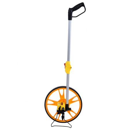 Diameter Measuring Wheel - Dilwe Foldable Mechanical Distance Measuring Wheel Measure Road Land Builders Workers, Measuring wheel, distance measuring wheel