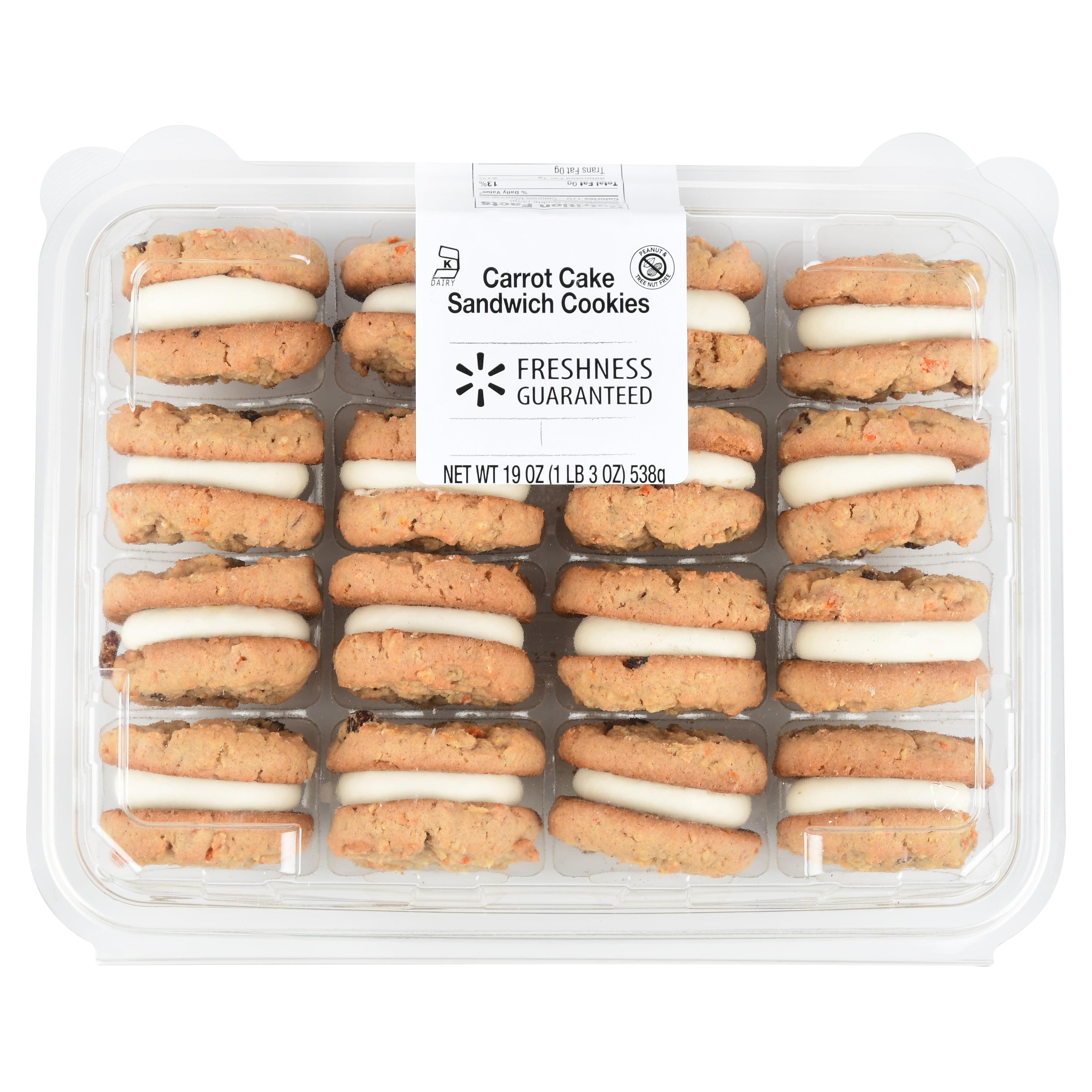 Freshness Guaranteed Carrot Cake Sandwich Cookies
