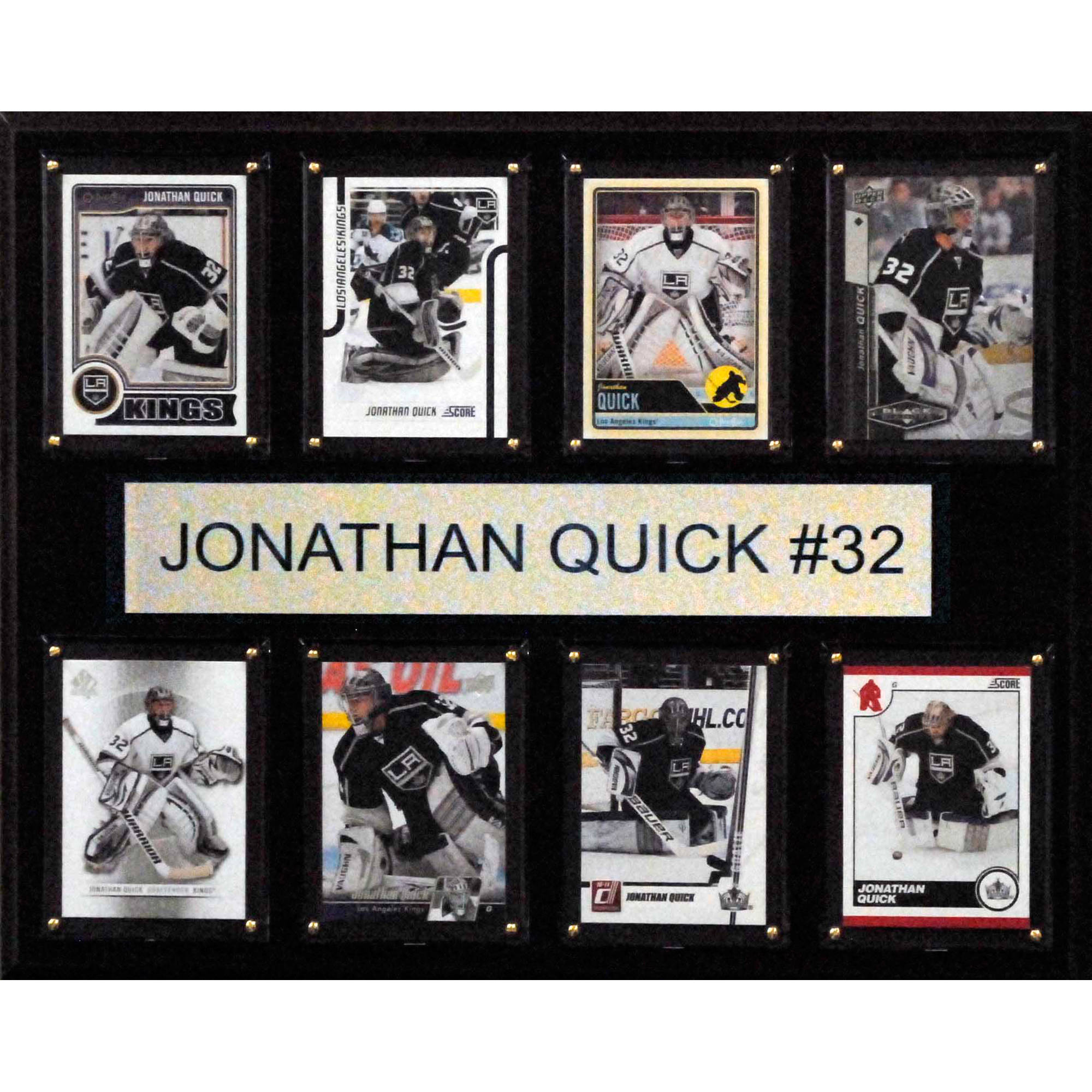 C&I Collectables NHL 12x15 Jonathan Quick Los Angeles Kings 8-Card Plaque